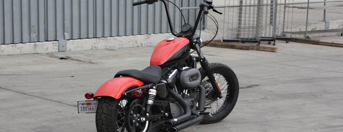 Burly Brand Narrow Apehanger Handlebars 14 Inch for Harley