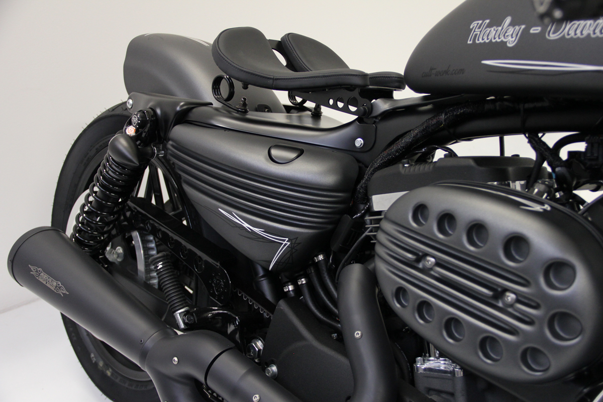 Cult Werk Bobber Style Side Covers In A Paintable Finish