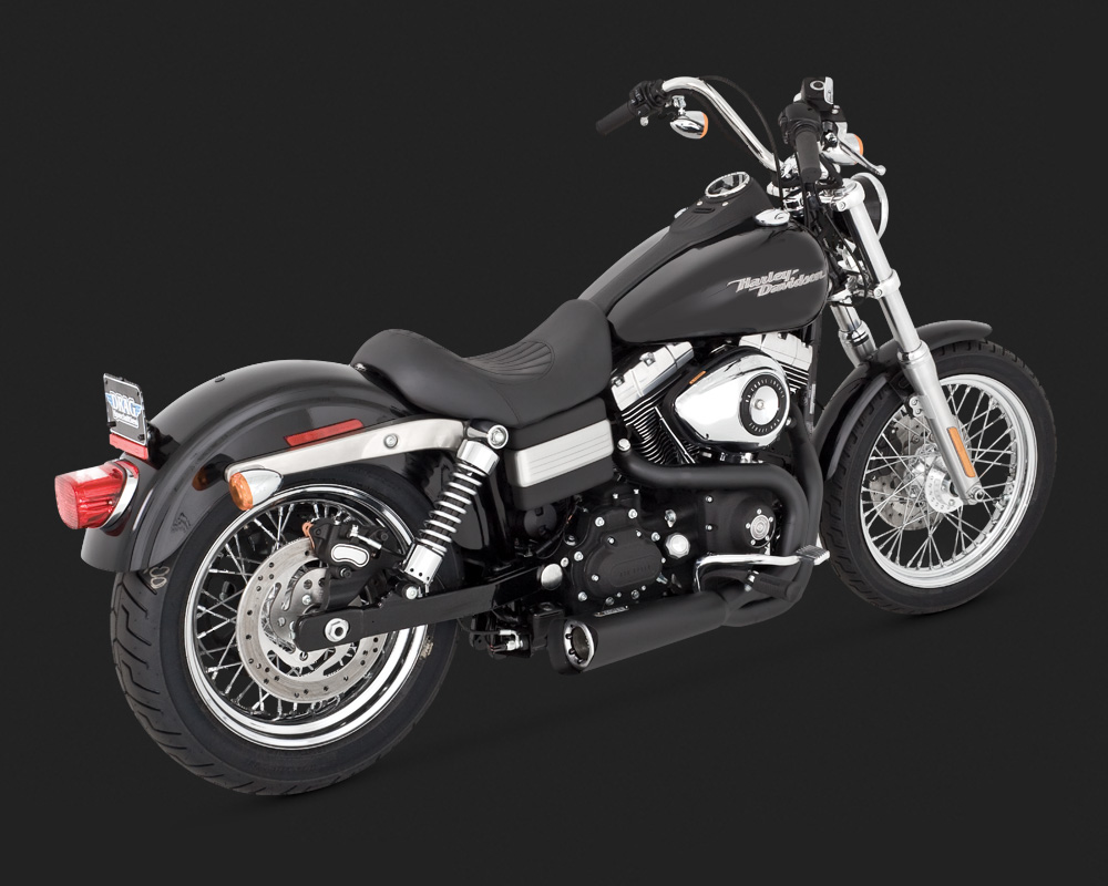 Vance & Hines Competition Series 2 Into 1 Exhaust In Black