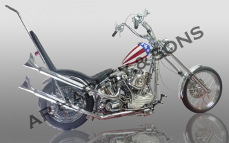Custom motorcycle kits build your own custom bike captain america custom chopper bike kit with ss p93 panhead motor solutioingenieria Images