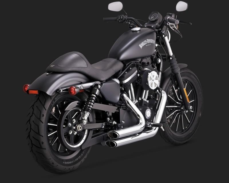 Vance & Hines Shortshots Staggered Performance Exhaust System In Chrome for  Harley Davidson 2014-2019 Sportster Motorcycles (17229)