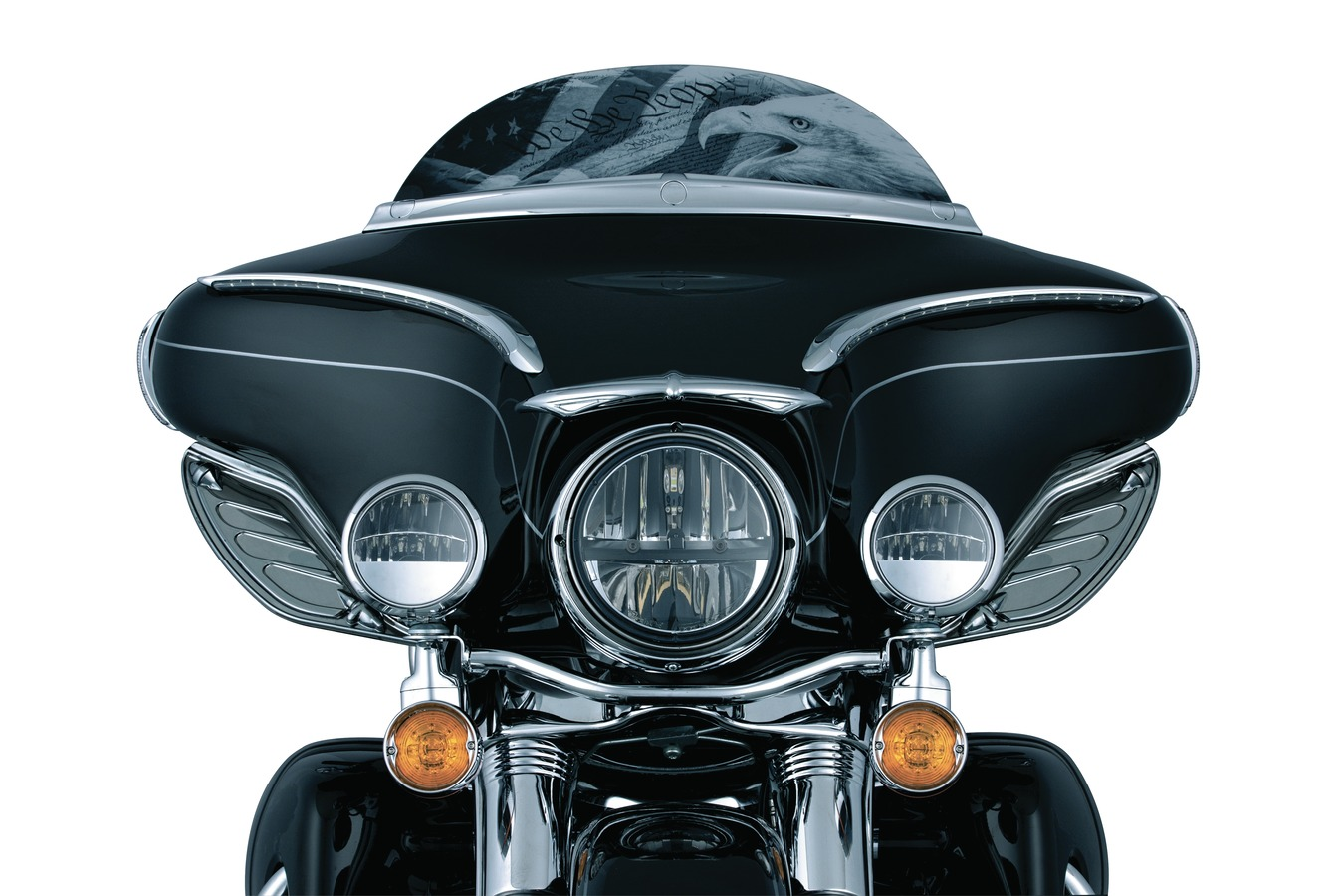 Kuryakyn Phase 7 4 1/2 Inch L.E.D. Passing Lamps for Harley Davidson and Custom Motorcycle Applications (2247)