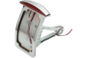 Drag Specialties Axle Mount Half Moon Curved Vertical LED Taillight License Plate Mount For 2000-2007 Softail Models With 3/4 Inch Or 1 Inch Axles (2010-0552)