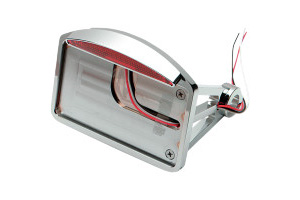 Drag Specialties Axle Mount Half Moon Flat Vertical LED Taillight License Plate Mount For 1986-1999 Softail Models (0906-6042)
