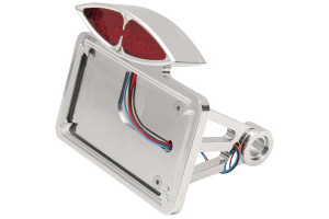 Drag Specialties Side Mount Deco Taillight License Plate Mount Flat Horizontal For Harley Davidson 1986-1999 FXST & FLST With 3/4 Inch Axle (2030-0169)