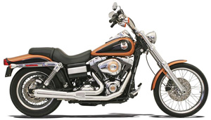 Bassani Road Rage 2 Into 1 Short System In Chrome For Harley Davidson 2006-2017 Dyna Models (Except FLD) (13112J)