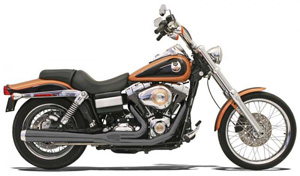 Bassani Road Rage 2 Into 1 Long System In Black For Harley Davidson 2006-2017 Dyna Models (13121J)