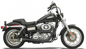 Bassani Road Rage 2 Into 1 Short System In Black (Not Stepped 1 3/4 Inch Only) For Harley Davidson 1991-2005 Dyna Models (1D5250B)