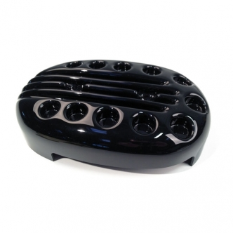 Cult Werk Slotted Air Cleaner Cover In Gloss Black Finish For Harley Davidson Sportster 2004-2020 (HD-SPO024)