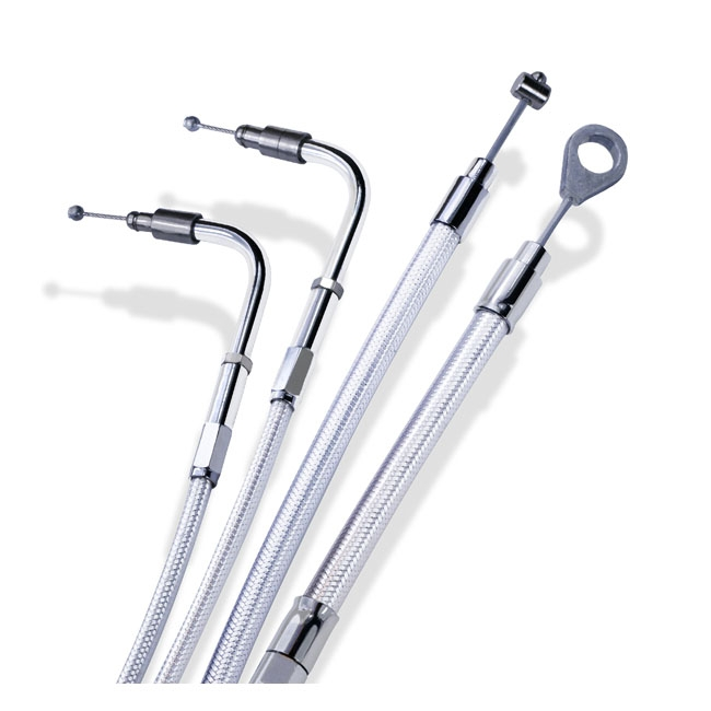 Barnett Throttle and Idle Cables For 1996-2017 Harley