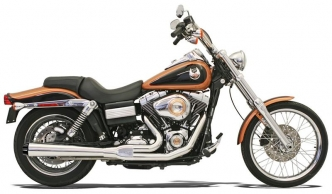 Bassani Exhaust Road Rage 2-Into-1 Short Megaphone Exhaust System in Chrome Finish For 1991-2005 Dyna Models (13311R)