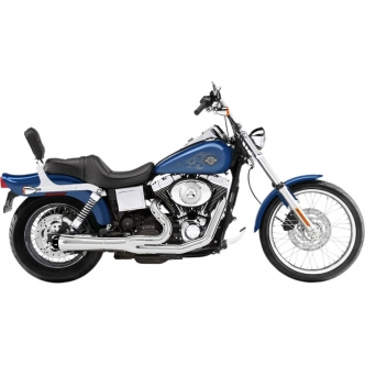 Bassani Road Rage 2-Into-1 Short Megaphone Exhaust System in Chrome Finish For 1991-2005 Dyna Models (13312R)