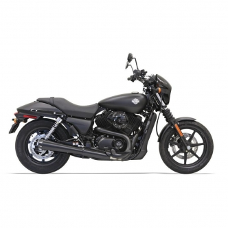 Bassani Muffler 4 Inch Megaphone Style Street Exhaust in Black Finish For 2015-2020 Street Models (1527RB)