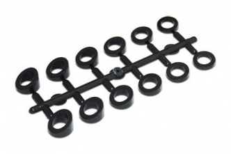 Custom Chrome Angle Washer Set Black ABS 6 Different Angles From 5 To 30 Degrees (618423)