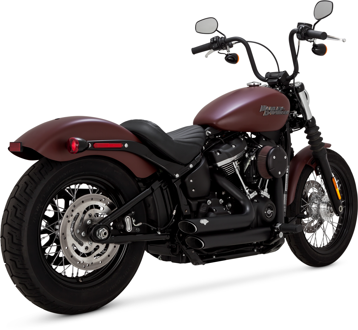 Vance & Hines Shortshots Staggered Exhaust In Black For