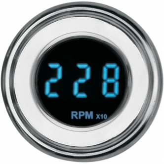 Dakota Digital Tachometer 4000 Series 1-7/8 Inch in Chrome Finish (MCL-4027R)