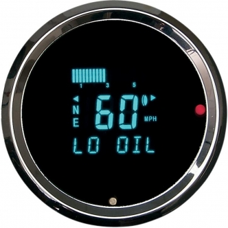 Dakota Digital Tachometer 3000 Series Aluminium in Chrome Finish 3-3/8 Inch 3016 Model With Indicators (HLY-3016)