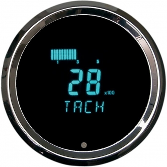 Dakota Digital Tachometer 3021 Aluminium 3-3/8 Inch in Chrome Finish (HLY-3021)