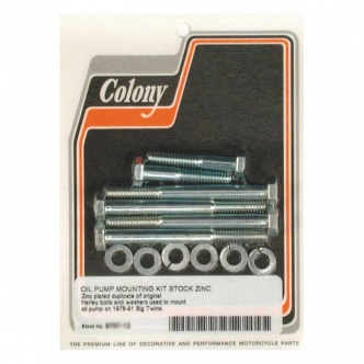 Colony Oil Pump Mount Kit OEM Style Hex in Zinc Finish For 1979-1991 B.T. Models (ARM690989)