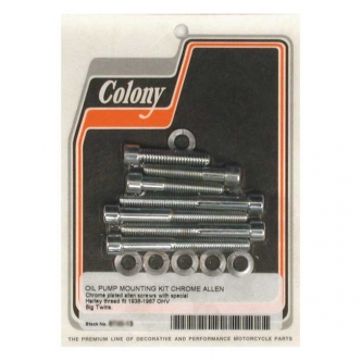 Colony Oil Pump Mount Kit Allen in Chrome Finish For 1936-1967 OHV B.T. Models (ARM480989)