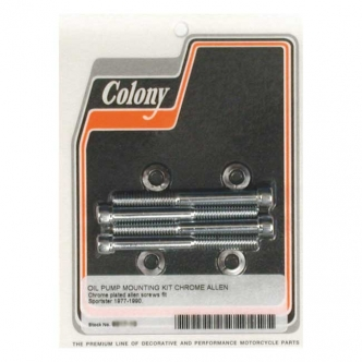 Colony Oil Pump Mount Kit Allen Knurled in Chrome Finish For 1977-1990 XL Models (ARM980989)