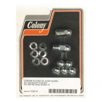 Colony Oil Pump Mount Nuts, Acorn Nut & Washer Set, 1/4 Inch -24 Thread For 1936-1967 B.T. Models (ARM131989)