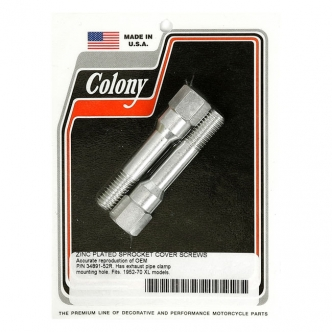 Colony Sprocket CVR Mount Kit, OEM Style With Extra Clamp Mount in Zinc Finish For 1952-1970 K, XL Models (ARM317929)