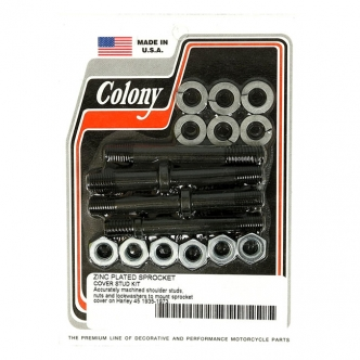 Colony Sprocket Cover Stud Kit in Zinc Finish For 1935-1973 45 Inch Flatheads (750CC) Models (ARM076929)