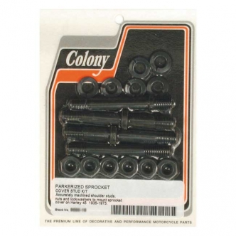 Colony Sprocket Cover Mount Kit in Black Parkerized Finish For 1935-1973 45 Inch SV Models (ARM382989)