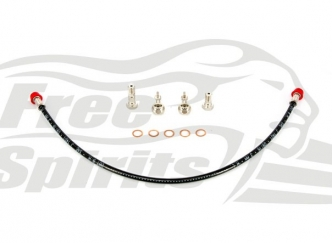 Free Spirits Triumph Braided Front Brake Line For Kits 303901 & 303903 (303902)
