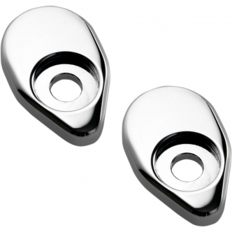 Joker Machine Dual Rat Eye Adapter Plates For Side Mount In Chrome Finish (05-55-4C)