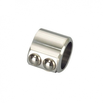 Kustom Tech Evolution 2 Button Mini Switch Housing in Chrome (20-156)