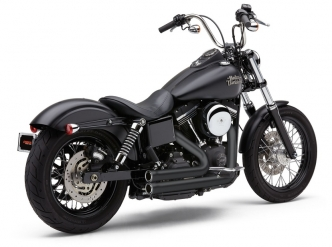 Cobra 909 2 Into 2 Exhaust System In Black For Harley Davidson 2006-2011 Dyna Motorcycles (6709B)