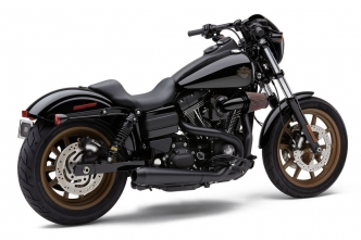 Cobra El Diablo 2 Into 1 Exhaust System In Black For Harley Davidson 2006-2011 Dyna Motorcycles (6476B)