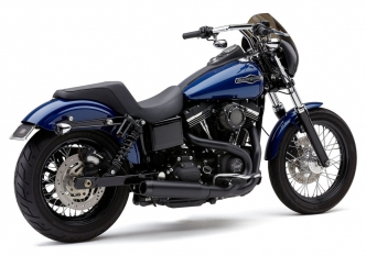 Cobra El Diablo 2 Into 1 Exhaust System In Black With Billet Tip For Harley Davidson 2006-2011 Dyna Motorcycles (6496B)