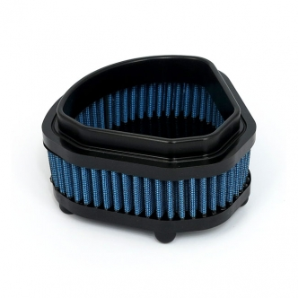 Doss Blue Lightning Air Filter Element With 4 Layers Of Ribbed Pre-Oiled Cotton Filtering Media, Maximum Air Flow For 1986-1989 B.T. Models (ARM650065)