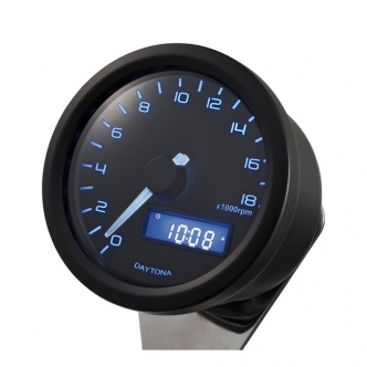 Doss Velona 60mm Tachometer 18000 RPM Black Housing, Blue Illumination (ARM441015)