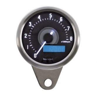 Doss Velona 60mm Tachometer 8000 RPM White LED Illumination 8000 RPM (ARM794009)