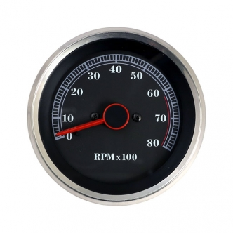 Doss Tachometer 6200 RPM Redline For 1984-1994 FX, FXR, XL Models Handlebar Mounted (ARM634049)
