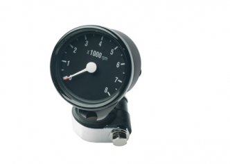 Custom Chrome Mini Electronic Tachometer in Black Finish For 1973-2003 BT-XL Models (688059)