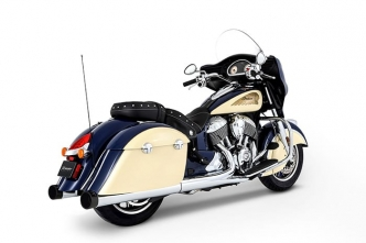 Rinehart Racing 4 Inch Touring Slip-Ons In Chrome With Black End Caps For 2014-2019 Indian Dark Horse, Classic & Vintage Motorcycles (500-0500)