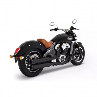 Rinehart Racing 3.5 Inch Slip-Ons In Black With Black End Caps For 2015-2019 Indian Scout Motorcycles (500-0505)