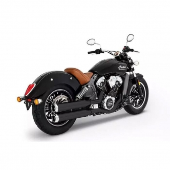 Rinehart Racing 3.5 Inch Slip-Ons In Black With Chrome End Caps For 2015-2019 Indian Scout Motorcycles (500-0505C)