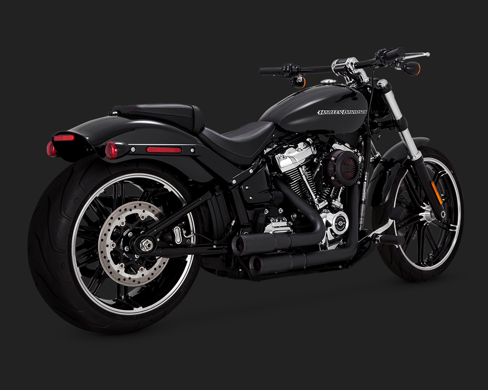 Vance & Hines Mini Grenades Exhaust In Black For Harley ...
