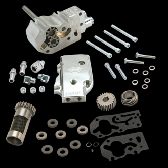 S&S High Volume High Pressure Oil Pump Kit With Gears For 1992-99 HD Big Twins - Standard (31-6298)