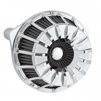 Arlen Ness 15-Spoke Inverted Series Air Cleaner Kit In Chrome For Harley Davidson 2017-2020 Touring & 2018-2020 Softail Models (18-996)