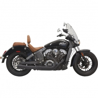 Bassani Road Rage 2-1 Exhaust System With Short Change Megaphone Muffler In Black For Indian Scout 2015-2019 (8S12JB)