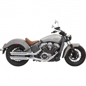 Bassani 3 Inch Slip On Mufflers In Chrome With Chrome Slash-Cut End Caps For 2015-2019 Indian Scout (8S17SC)