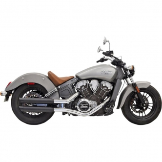 Bassani 3 Inch Slip On Mufflers Slash Cut In Black For 2015-2019 Indian Scout (8S27BSB)