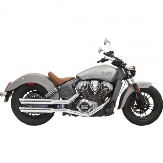 Bassani 3 Inch Slip On Mufflers Slash Cut In Chrome For 2015-2019 Indian Scout (8S27SC)